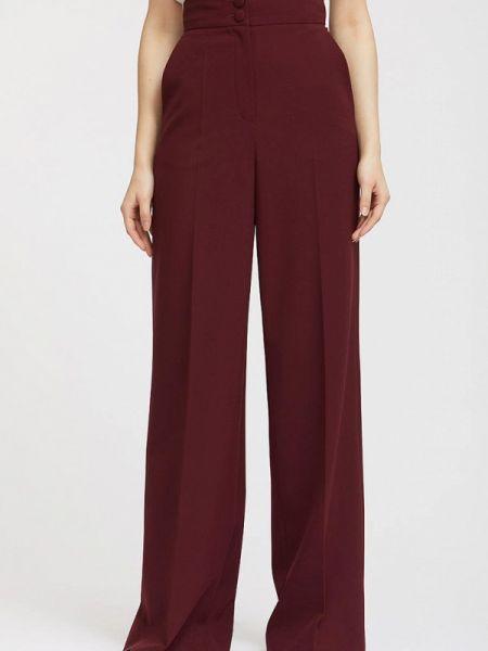 Бордовые классические брюки с карманами Calista