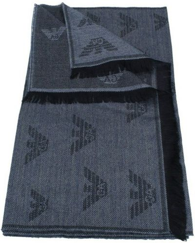 Niebieski szalik Emporio Armani