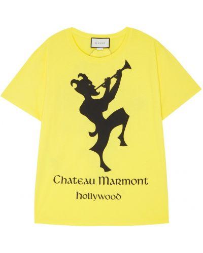 Футболка хлопковая винтажная Gucci