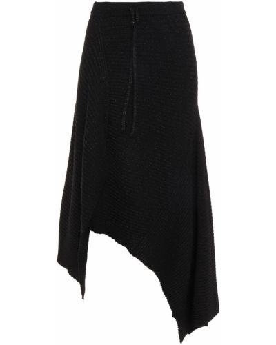 Czarna spódnica midi asymetryczna wełniana Marques Almeida