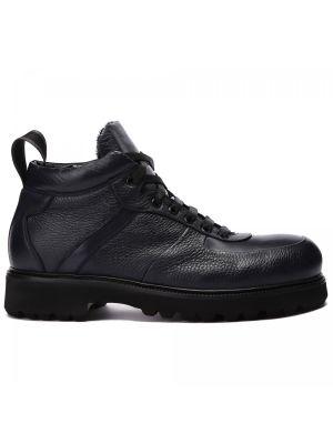 Синие кожаные ботинки Rocco P.