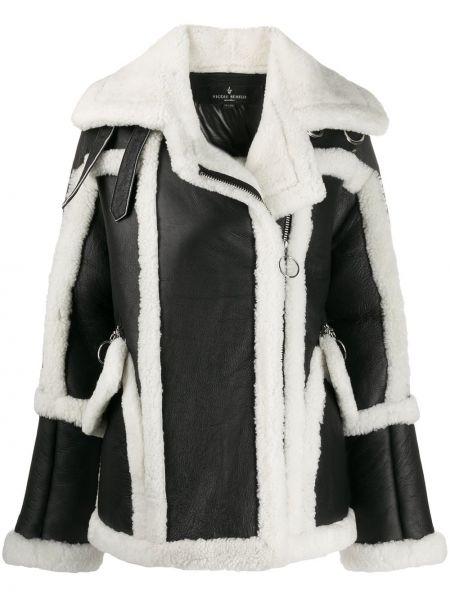Нейлоновое черное пальто на молнии свободного кроя Nicole Benisti