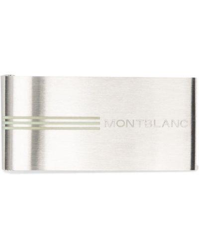 Klipsy srebrne - szare Montblanc