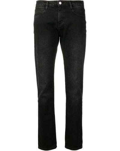 Черные джинсы с воротником на пуговицах с поясом Brocken Bow