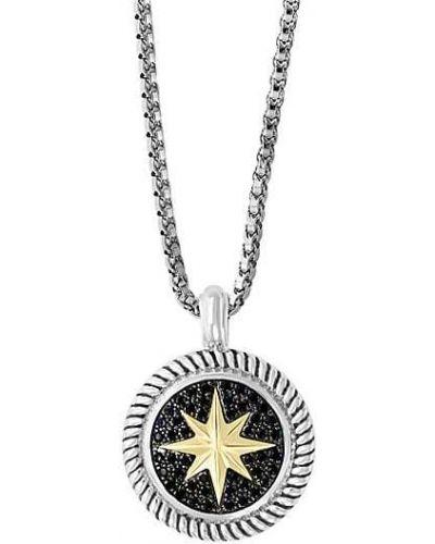 Серебряный медальон c сапфиром Effy