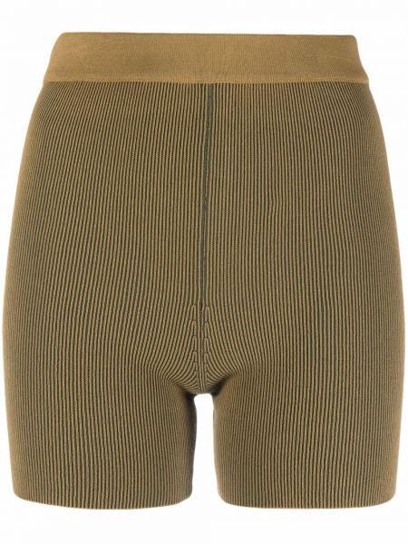 Зеленые шорты из полиэстера Jacquemus