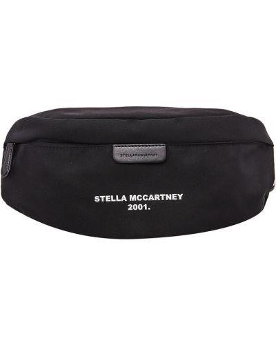 Поясная сумка с надписью черная Stella Mccartney