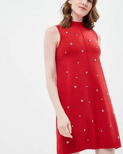 Платье весеннее красный Brigitte Bardot
