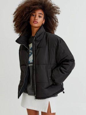 Утепленная куртка - черная Pull&bear