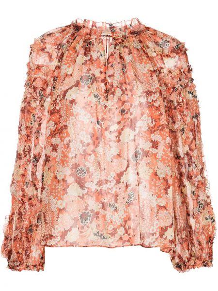 Bluzka z długimi rękawami koronkowa w kwiaty Ulla Johnson