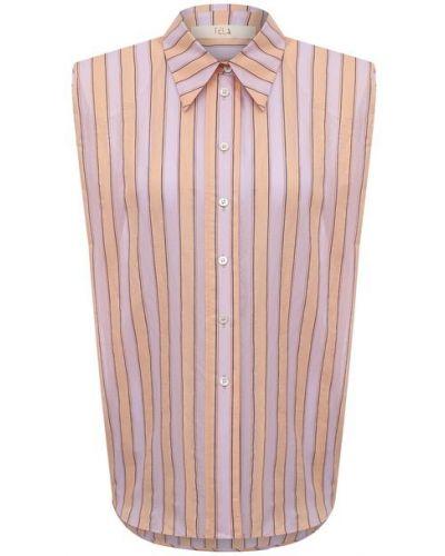 Хлопковая рубашка - оранжевая Tela
