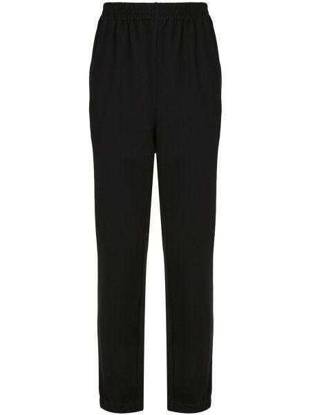Спортивные прямые черные спортивные брюки с поясом Sir.