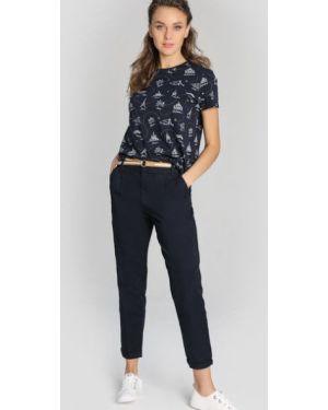 Темно-синие зауженные брюки чиносы со складками на молнии Ostin