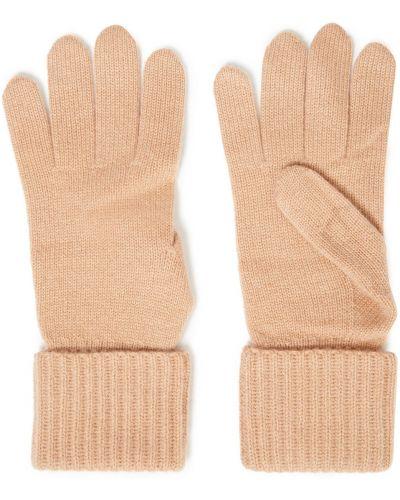 Кашемировые желтые перчатки со складками N.peal