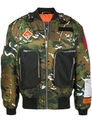 С рукавами армейская зеленая длинная куртка Heron Preston