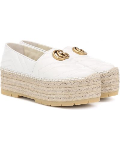 Белые стеганые эспадрильи Gucci