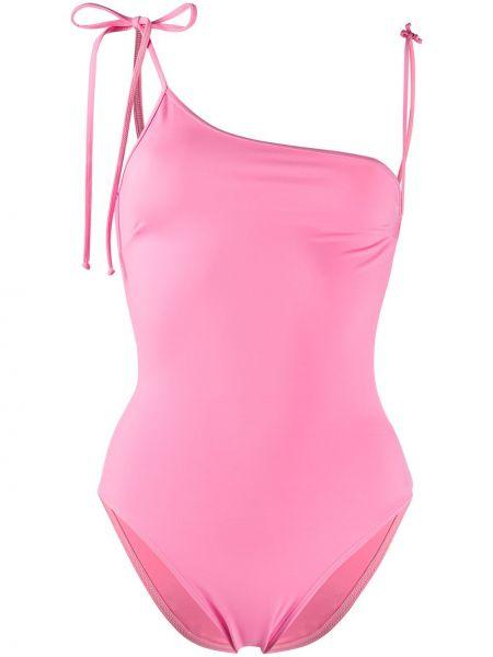 Розовый купальник с завязками эластичный Sian Swimwear