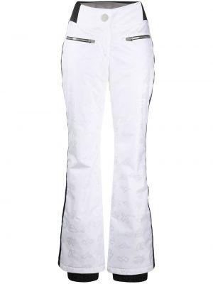 Расклешенные белые брюки с полоской по бокам с карманами Rossignol