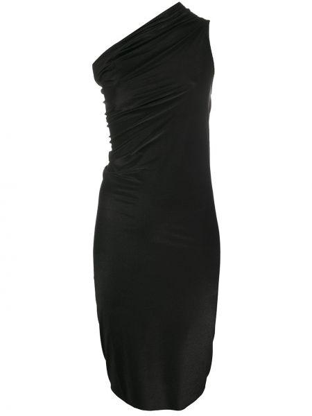Платье черное приталенное Rick Owens Lilies