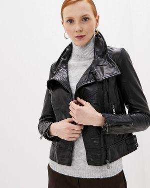 Кожаная куртка - черная La Reine Blanche