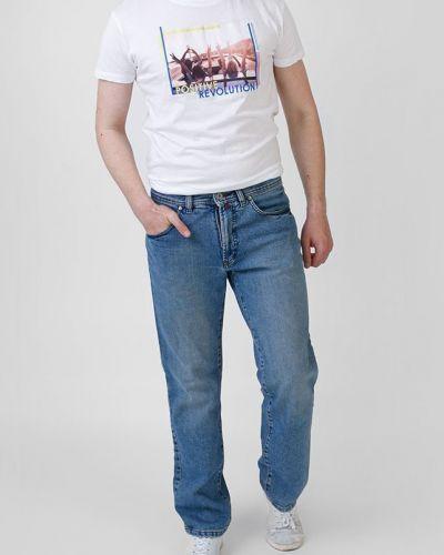 Прямые джинсы - синие Pierre Cardin
