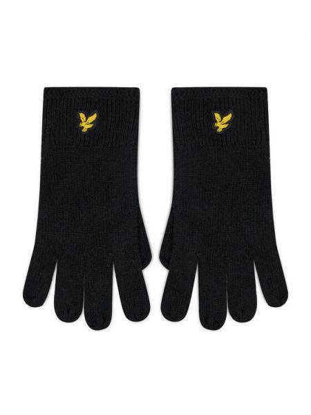 Rękawiczki - czarne Lyle & Scott