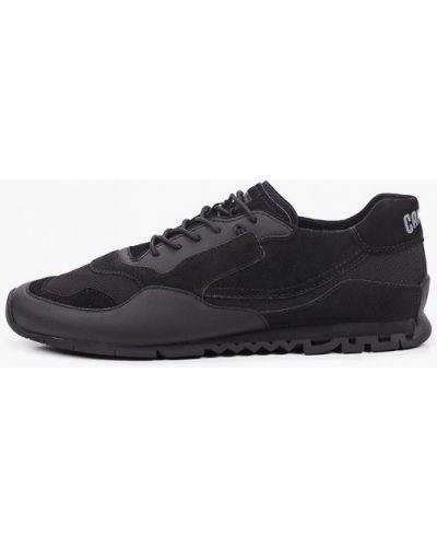 Кожаные черные низкие кроссовки Camper