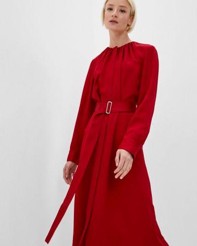 Повседневное красное платье Boss