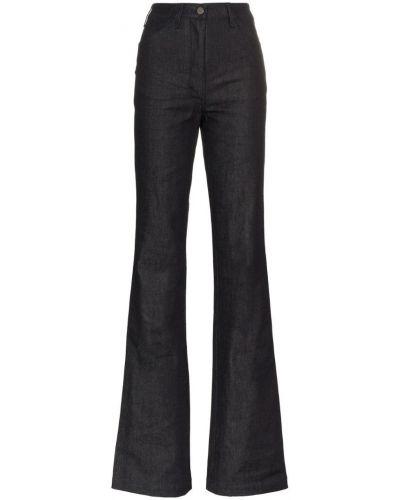 Расклешенные пляжные джинсы с высокой посадкой на пуговицах A_plan_application