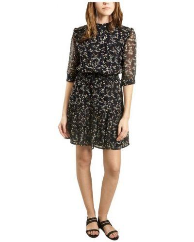 Czarna sukienka z szyfonu Sessun