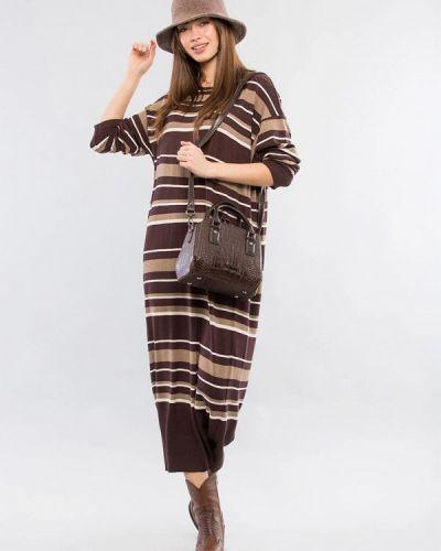 Повседневное коричневое платье Maxa