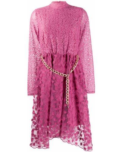 Платье миди розовое с поясом Just Cavalli