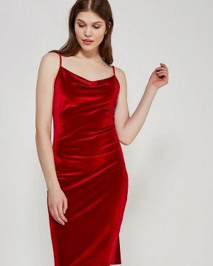 Красное платье прямое Echo