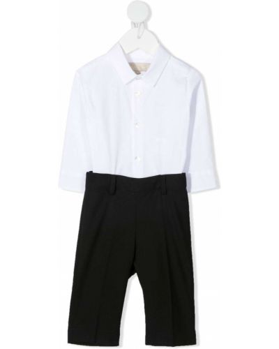 Czarna koszula bawełniana z długimi rękawami Elie Saab Junior