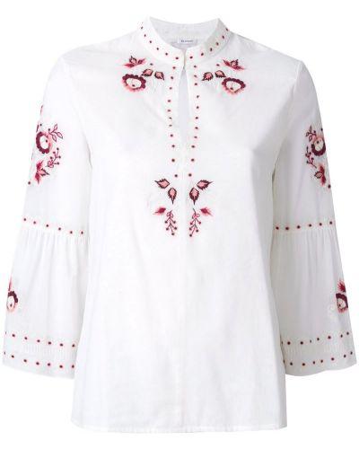 Бежевая блузка с вышивкой Vilshenko
