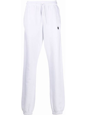 Spodnie bawełniane - białe Marcelo Burlon County Of Milan