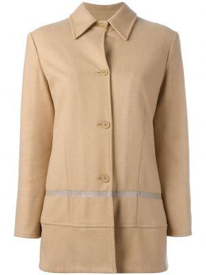 Шерстяное длинное пальто с капюшоном с воротником Helmut Lang Pre-owned