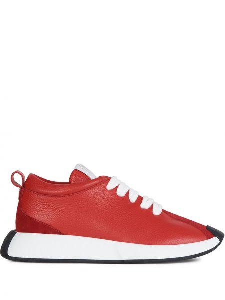 Koronkowa skórzany sneakersy zasznurować Giuseppe Zanotti