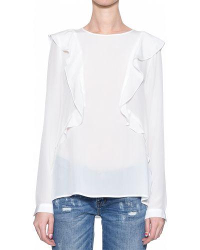 Блузка шелковая белая Rene Lezard