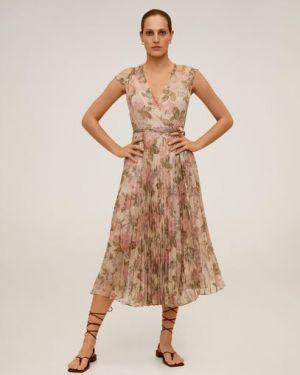 Платье мини миди с цветочным принтом Mango