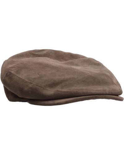 Brązowa czapka z daszkiem Kangol