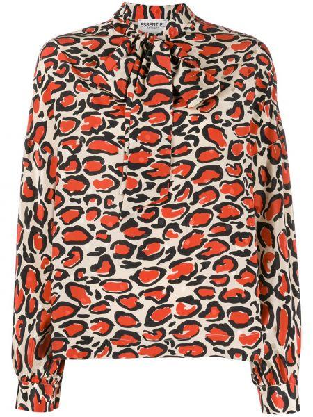 Блузка шелковая с воротником-стойкой Essentiel Antwerp