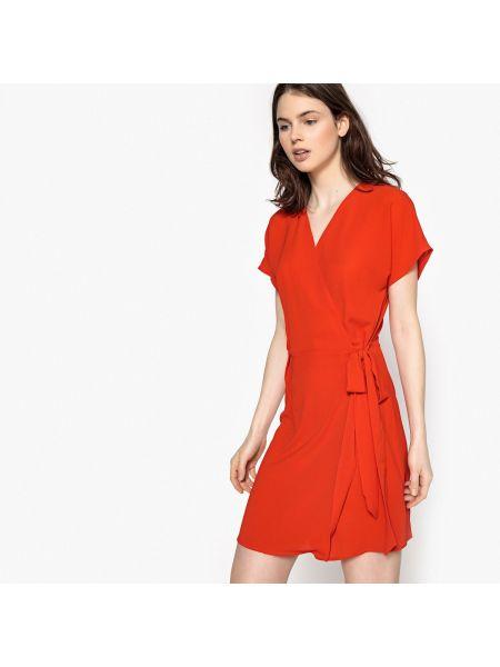 Красное прямое платье мини на молнии с вырезом Best Mountain