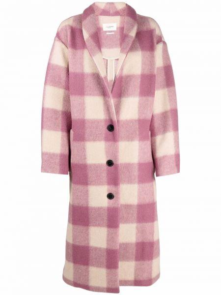 Розовое прямое пальто Isabel Marant étoile