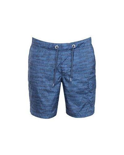 Синие спортивные шорты Armani Jeans