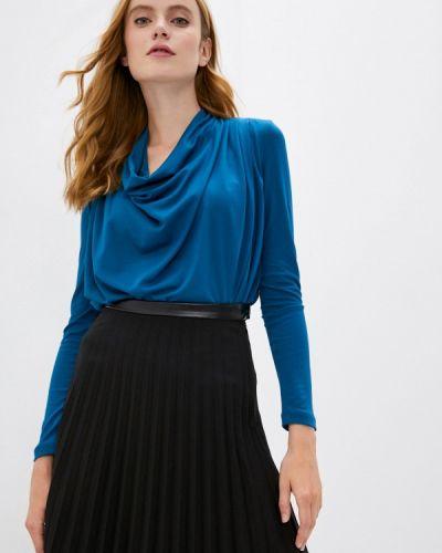 С рукавами синяя блузка Ruxara
