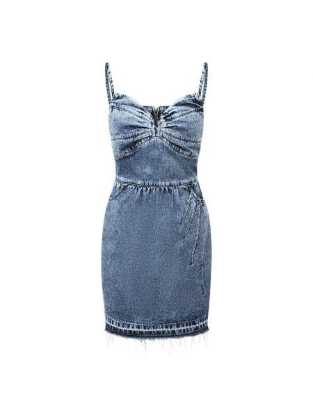 Купальник-платье синее итальянское платье Redvalentino