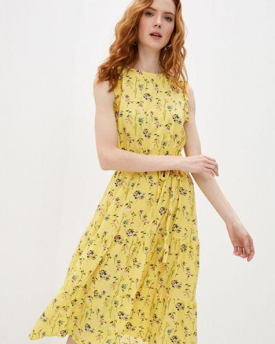 Прямое желтое платье А-силуэта Froggi