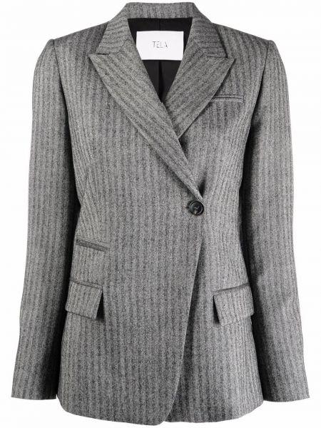 Серый хлопковый пиджак Tela