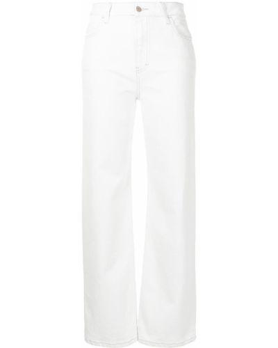 С завышенной талией прямые белые джинсы Manning Cartell